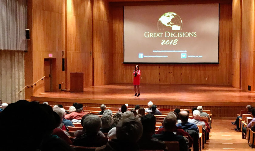 Speaking at Great Decisions of Wayne County