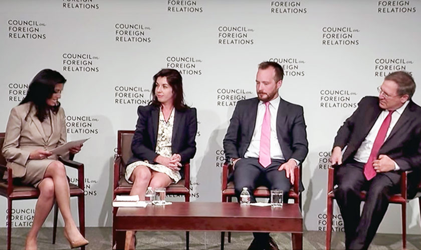 Speaking at the Council on Foreign Relations about Cyber Conflict: The Evolution of Warfare